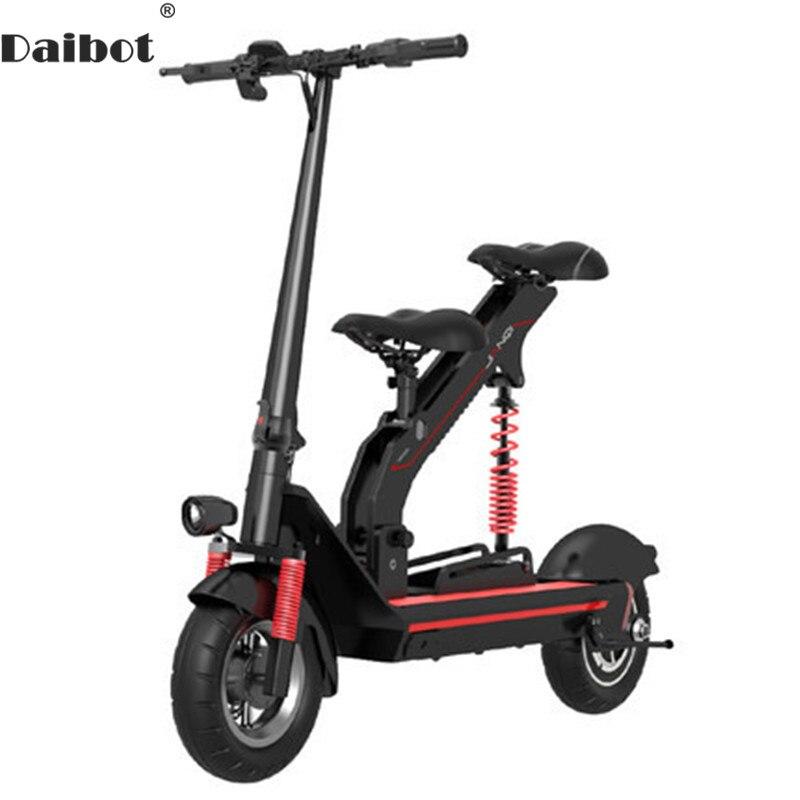 Daibot Scooter électrique avec siège pour enfants deux roues Scooters électriques 10 pouces 36V 350W adulte Portable pliant vélo électrique