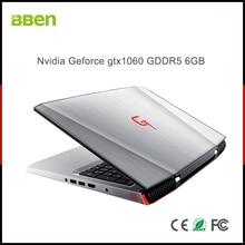 Ноутбук BBEN G16, Windows 10, Nvidia GeForce GTX1060, Intel Kabylake i7, 8 Гб ОЗУ, 128 Гб SSD, 1T HDD, WiFi, клавиатура с RGB подсветкой, 15,6 '', ips
