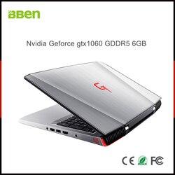 كمبيوتر محمول BBEN G16 ويندوز 10 نفيديا غيفورسي GTX1060 إنتل كابيليك i7 8GB RAM 128G SSD 1T HDD واي فاي RGB لوحة مفاتيح بإضاءة خلفية 15.6 ''IPS