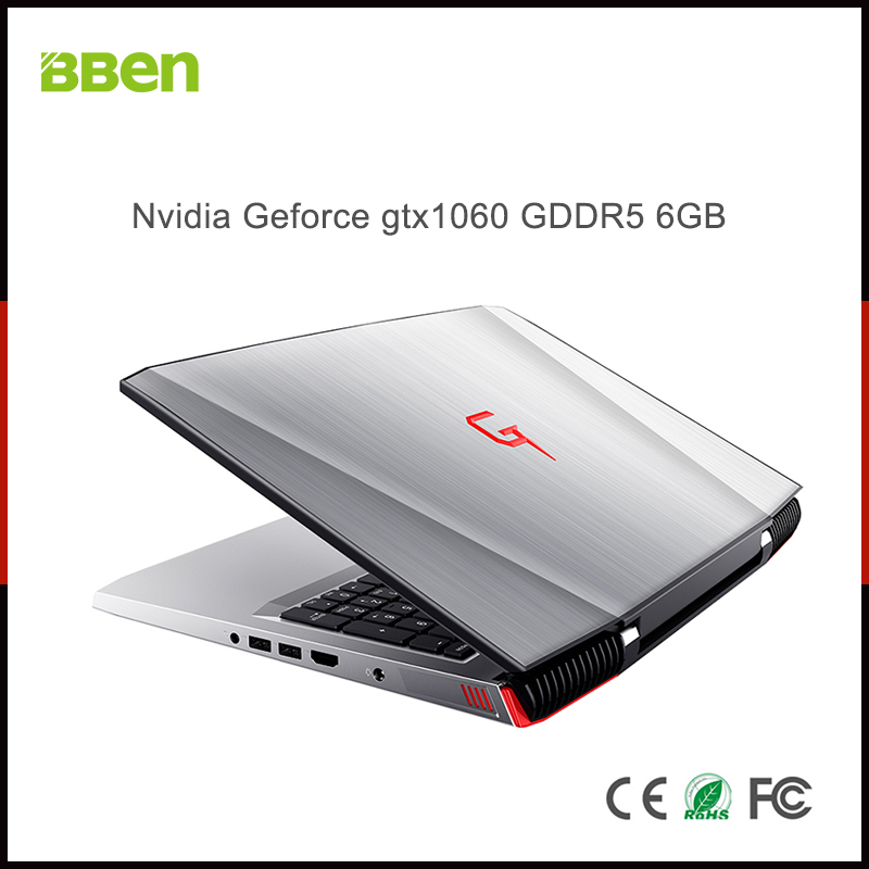 Notebook BBEN G16 Windows 10 Nvidia GeForce GTX1060 Intel Kabylake i7 8GB RAM 128G SSD 1T HDD WiFi RGB podsvícená klávesnice 15,6 '' IPS