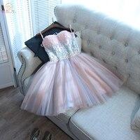 Прогулка рядом с вами Vestido коктейльные платья 2019 розово Серый Тюль блестками Вечеринка Vestidos De Coctel Elegantes короткие платья