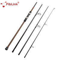 Fiblink 2.75M 3M 4 Section Surf Spinning Fishing Rod M Power Carbon Fiber Rod 9FT/10FT 28 226g Lure Weight M Fast