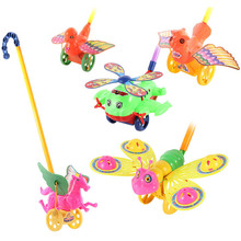 Funny Baby Toys Toddler Hand Push Toys For Kids Bee Duck Horse Aircraft Scroll
