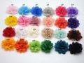 50pcs/lot Wholesale 1.97'' mini Baby Kids DIY Chiffon Flowers Flat back hair accessory Dress Shoes Flowers