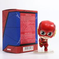 Free Shipping Cute 4 DC Super Hero The Flash Barry Allen Shaking Head Toy Boxed 9cm