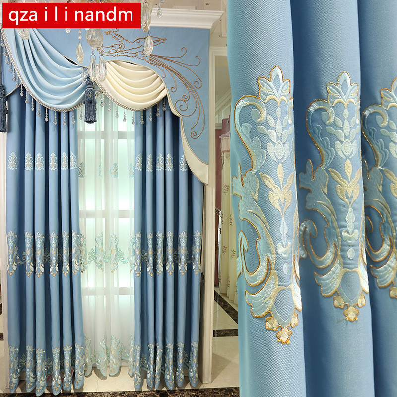 European Curtains Home Decor Living Room Luxury Curtains For Bedroom Married The Modern Window Blackout Curtain Cloth Valance Curtains Aliexpress