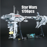 Compatible Legoe 05083 Star Wars Lepin 1736pcs Building Blocks NebulonB Medical Frigate Mini Figure Bricks Toys