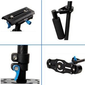 Image 3 - YELANGU S60T Professional Portable Carbon Fiber Mini Handheld Camera Stabilizer DSLR Camcorder Video Steadicam Better than S60