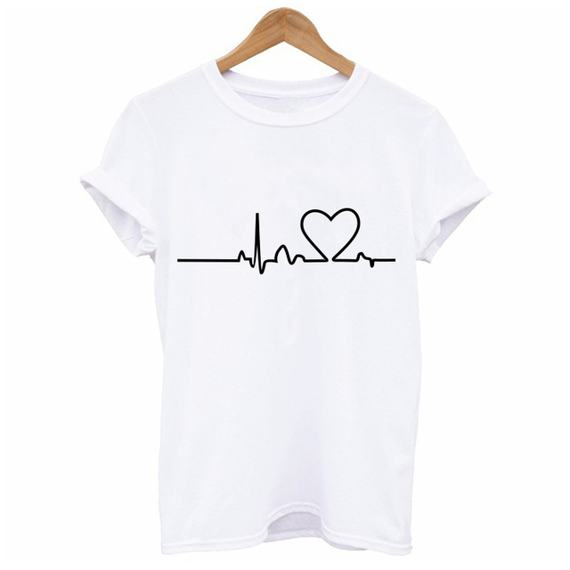 2019 New Women T-shirts Casual Harajuku Love Printed Tops Tee Summer Female T shirt  Short Sleeve T shirt For Women Clothing