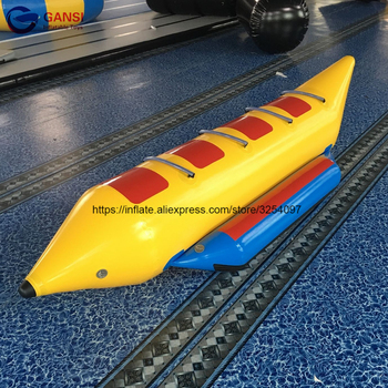 3.8*1.2m Guangzhou factory inflatable water games flyfish banana boat,free air pump cheap banana boat price цена 2017