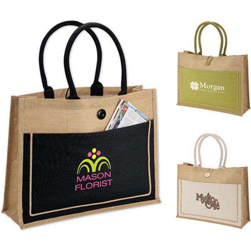 22101bd9ab wholesale 500pcs lot Tote Jute Hessian shopping bags reusable grocery Jute  tote shoulder bags customized. US  1