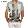 E-BAIHUI Brand t shirt  mens t shirts t shirt casual tops tees Fitness Men cotton T-shirts Camisetas Swag t shirt Y050