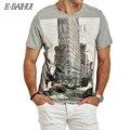 E-BAIHUI Marca t shirt dos homens t camisas t shirt ocasional cobre t Homens Camisetas de algodão Camisetas de Fitness camiseta Presa Y050