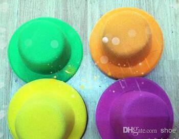 48pcs Hen Party Plain Mini Top Hat for DIY Hair Fascinator Headwears 13cm Mini hat mixed 12 colors