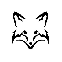 цена на 13.5*13.5CM Cute Fox Face Head Vinyl Decal Car Sticker Animal Black Rear Fender Accesssories Plastic Emblem for Skoda Jeep Volvo