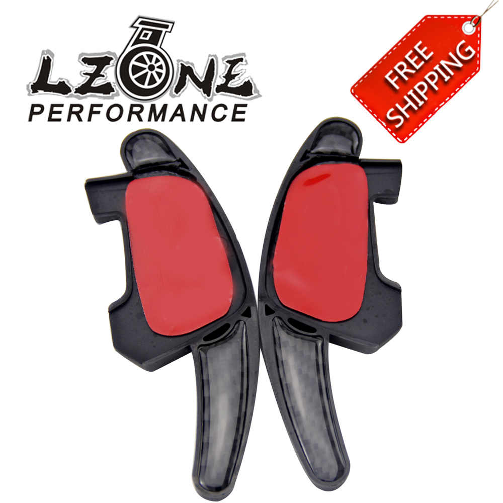 LZONE - FREE SHIPPING Shift Paddler For VW Golf GTI Carbon Fiber Steering Wheel Shift Paddle Shifter Extension Paddle JR-PSD07 aluminium gear shift steering wheel extension paddle shifter bezel garnish for forester legacy outback xv 2010 2016 car styling
