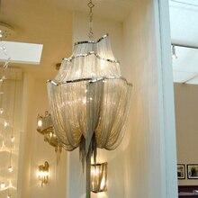 Сообщения современный кисточка алюминия цепи люстра Италия кисточкой лампы проект цепи кисточкой свет