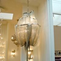OPKMB tassel aluminum chain chandelier Italy tassel project drop lighting Italy Type Modern Chandelier Lighting