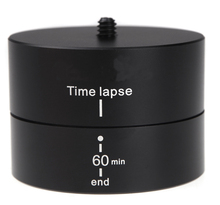 Free Shipping 60minutes New 1/4″ 360 Degrees Panning Rotating Time Lapse Stabilizer Tripod Adapter for Gopro DSLR Digital Camera