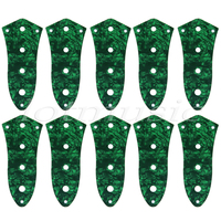 10pcs Green Pearl 4 Hole Control Plate For Jazz Bass Guitar 3ply
