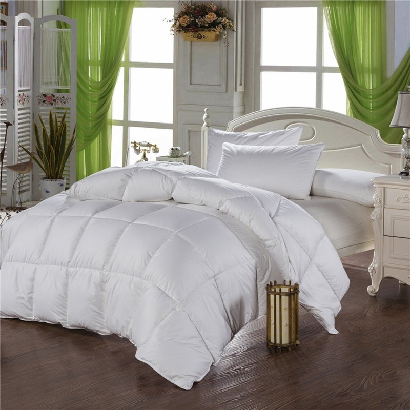 tutubird white goose down comforter duvet winter quilt blanket filler with 100 cotton cover twin. Black Bedroom Furniture Sets. Home Design Ideas