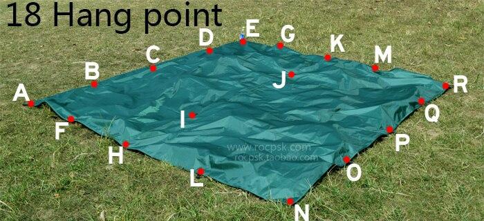 3F UL engrenage argent revêtement Anti UV ultra-léger abri soleil plage tente Pergola auvent auvent 210 T taffetas bâche Camping Sunshelter - 2