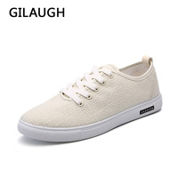 New Breathable Linen Material Men Casual Shoes Lightweight Men Flats Casual Fashion Men Shoes