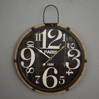 Personalized Wall Decor Decal Clock Vintage Creative Silent Wall Clock Retro Antique Diy Duvar Saati Vintage Home Decor 50A0822
