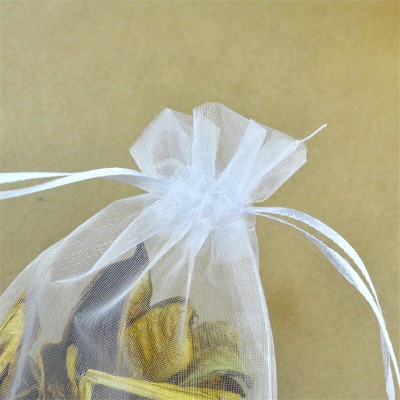 Big sale 20x30cm White organzasäckchen Organza Wedding Gift NEW FL