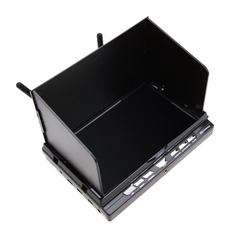 7 pouces 5.8G récepteur de diversité intégré moniteur LCD HD 32 canaux, enregistreur DVR RX-LCD5806 Support enregistreur HDMI avec batterie