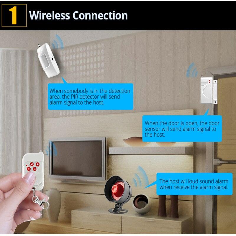 Image 4 - KEIRUI Cheap 100dB Wireless Local Speaker Home Alarm Burglar Security System Infrared Motion Detector Remote Control Siren KitAlarm System Kits   -