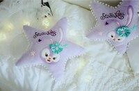 جديد أرنب الخماسي النجوم سائد أريكة وسادة أفخم الأرنب الأرجواني ترسل هدايا الطفل