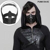 Готическая классическая черная заклепка эластичная резиновая маска стимпанк Мужская мода композитная искусственная кожа крутая рыбий рот...