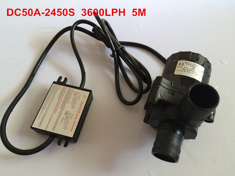 ФОТО 24V Micro hot water circulation pump Low noise Maintenance-free Lift 5M Flow 3600LPH For hot Water circulation
