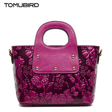 TOMUBIRD New women genuine leather bag brand Classic Embossing quality cowhide leather women handbags shoulder bag