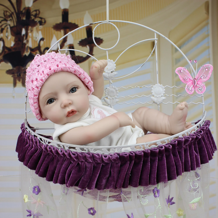 latest version All silicone baby doll 28 cm The simulation to take a bath baby Reborn dolls With sleeping baby The wedding gift