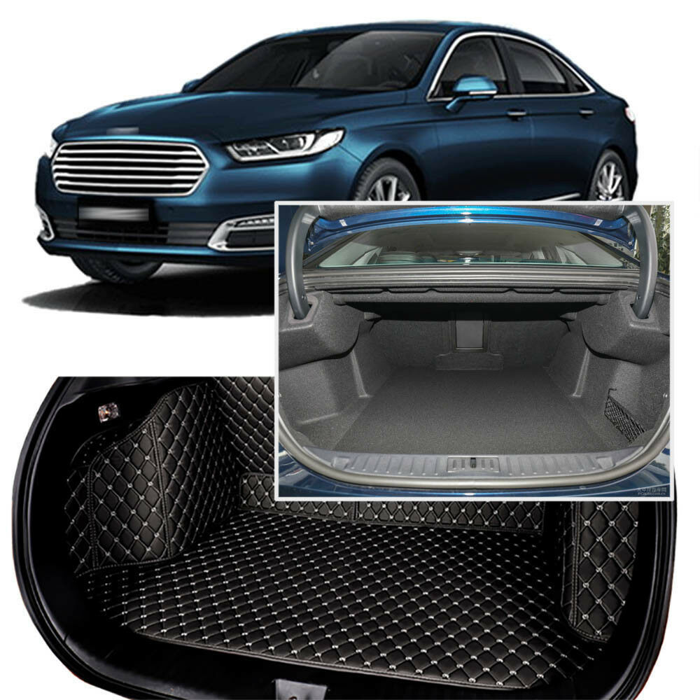 Full Covered Seat Pad Cargo Box Trunk Floor Mat Carpet Liner For Ford Taurus 2016-2018