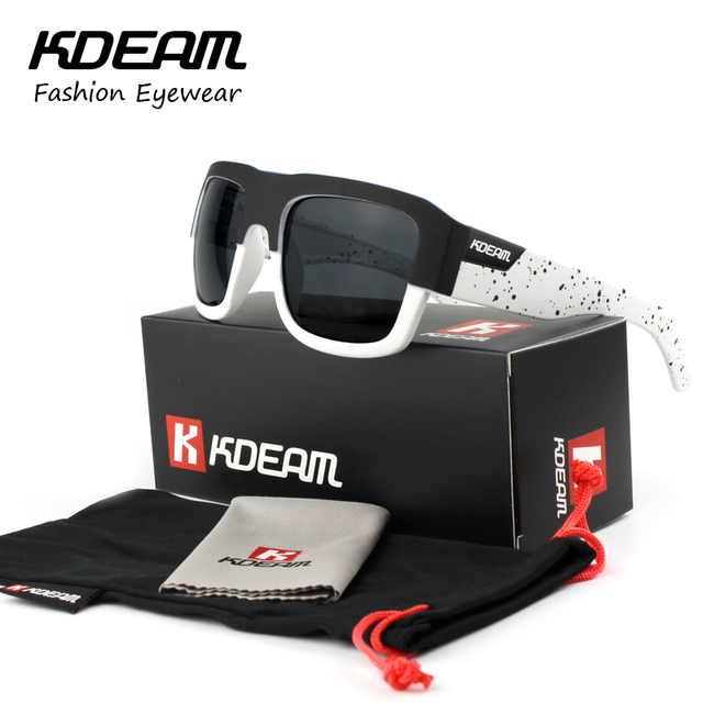 KDEAM Brand Men Sunglasses Sport Active Eyewear Stainless Steel Hinges Sun Glasses Women UV400 With Designer Box 03X