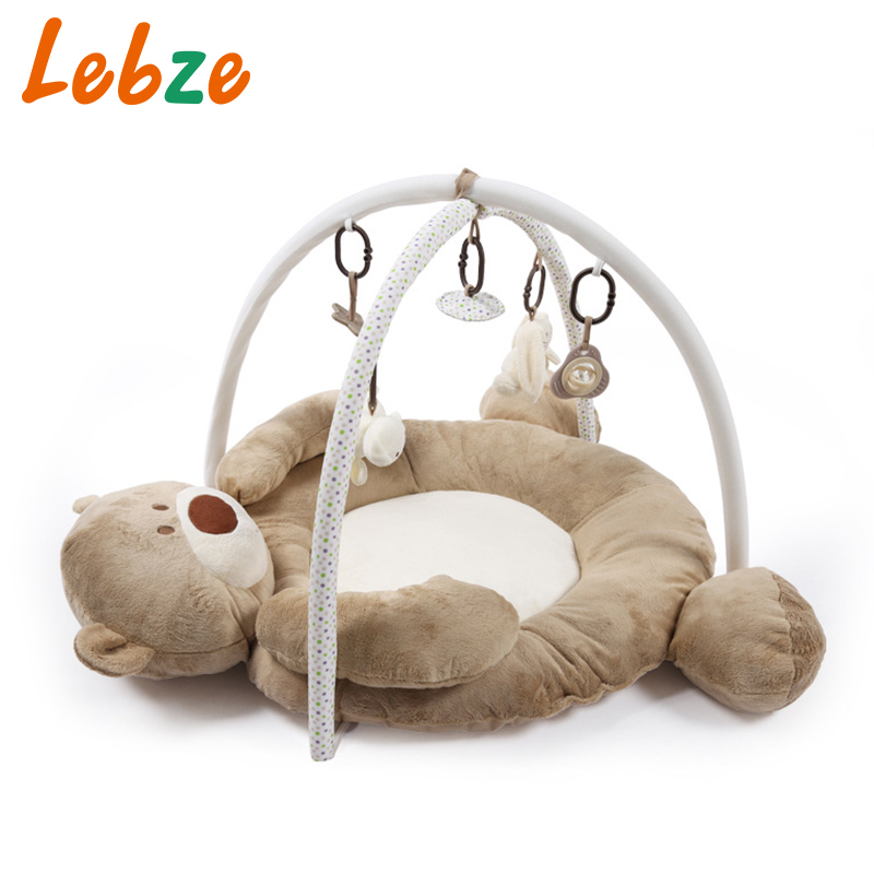 Baby Developing Mat For Newborns Thick Soft Kids Rug With Rattle Plush Toy Musical Educational Baby Activity Gym Playing Mat
