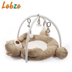 Baby Entwicklung Matte Für Neugeborene Dicke Weiche Kinder Teppich Mit Plüsch Rassel Spielzeug Musical Pädagogisches Baby Aktivität Fitnessraum Spielen Matte