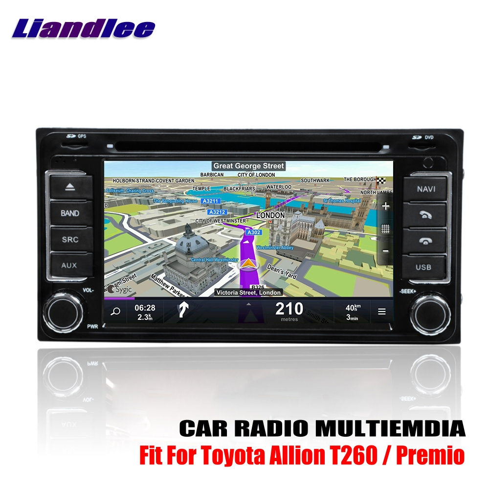 Liandlee For Toyota Premio Allion T260 20072017 Android Car Radio Old Cd Dvd Player Gps Navi Navigation Maps Camera Obd Tv Media In Multimedia