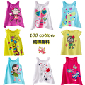 Wholesale New arrival animal girls t shirt for girls fashion cute sleeveless for girls baby kids clothing size 90-135