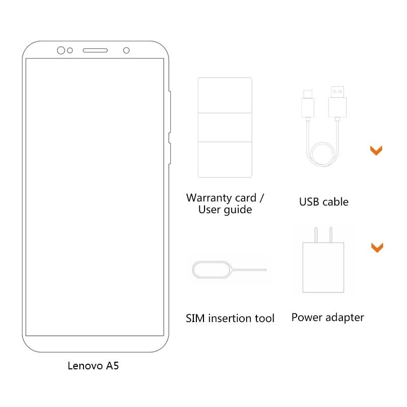 Image 3 - Lenovo A5 Global Version 3GB RAM 16GB ROM Mobile Phone MTK6739 Quad Core 5.45' Smart Phone Fingerprint 4G LTE Cellphone-in Cellphones from Cellphones & Telecommunications