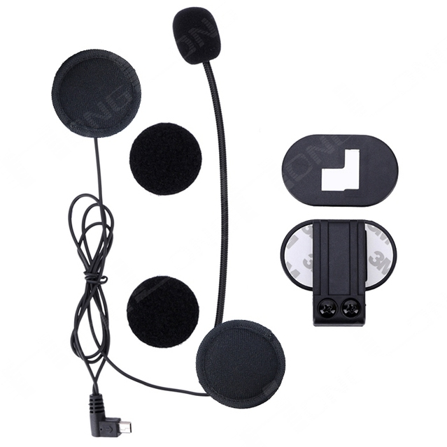 Headset & Clip Set Accessories for V2-500M/800M/1200M  Bluetooth Helmet Interphone Intercom Jack Plug