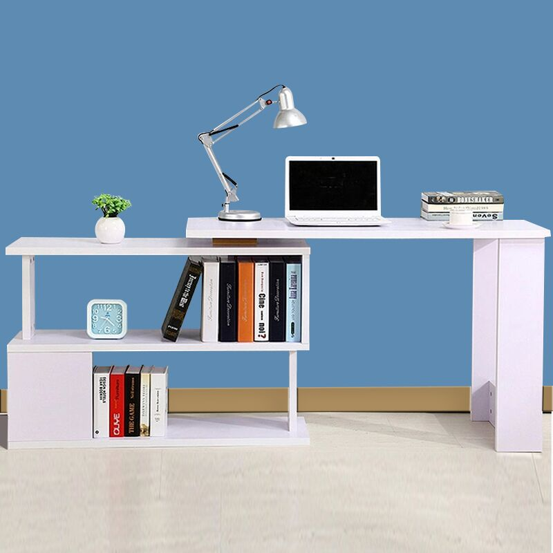 computer desks commercial office home furniture panel laptop desk rotatable computer desk with bookcase office table