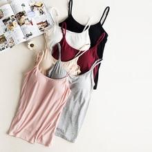 Plus measurement modal cotton padded camisole girls underwear informal spaghetti strap cami prime girls's cami tops padded camisoles