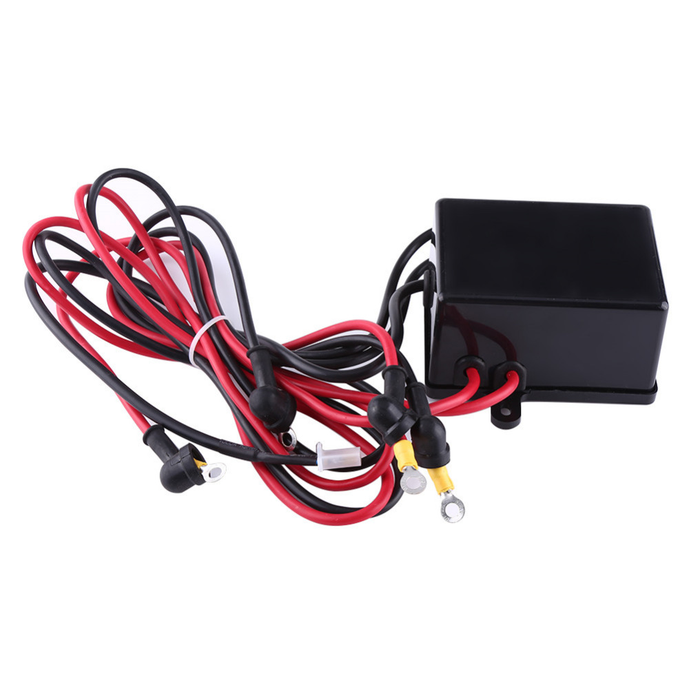 1 Set Steel Wire Winch 4000lbs Electric Recovery Winch Cable Pull ...