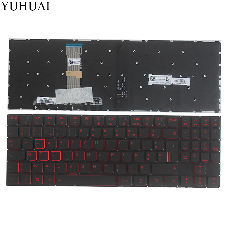 New French keyboard for Lenovo Legion Y520 Y520-15IKB R720 Y720 Y720-15IKB FR laptop Keyboard with Backlit NO Frame цена