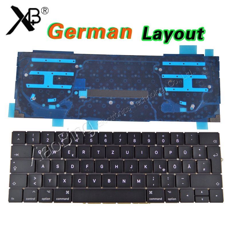 New A1706 Keyboard Germany GR EU EURO for MacBook Pro 13.3 Retina A1706 German Keyboard Backlight Backlit DE Deutsch QWERTZ fast food and fast media