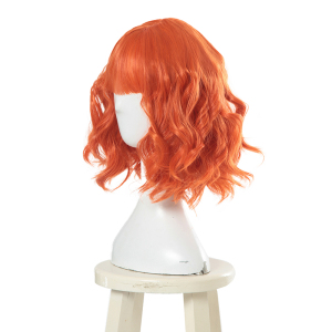 Image 2 - L email wig New Women Wigs 30cm/11.81inch Short Curly Orange Heat Resistant Synthetic Hair Perucas Cosplay Wig